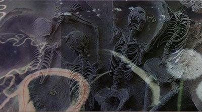"Lisa Gordon Cameron ""A Tangled Web"" digital collage on Aluminum"