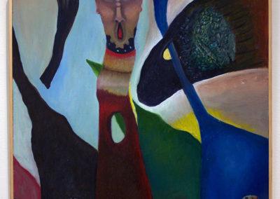 "Robert Zurer ""Xenophobia"" oil on wood"