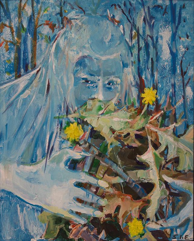"Steven Epstein ""Killer Frost""  acrylic"