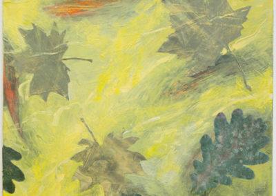 "Michael Williamson ""Alluvia Yellow"" acrylic mixed media"
