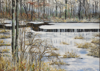 "Virginia Carroll ""Black River – November""acrylic on canvas"