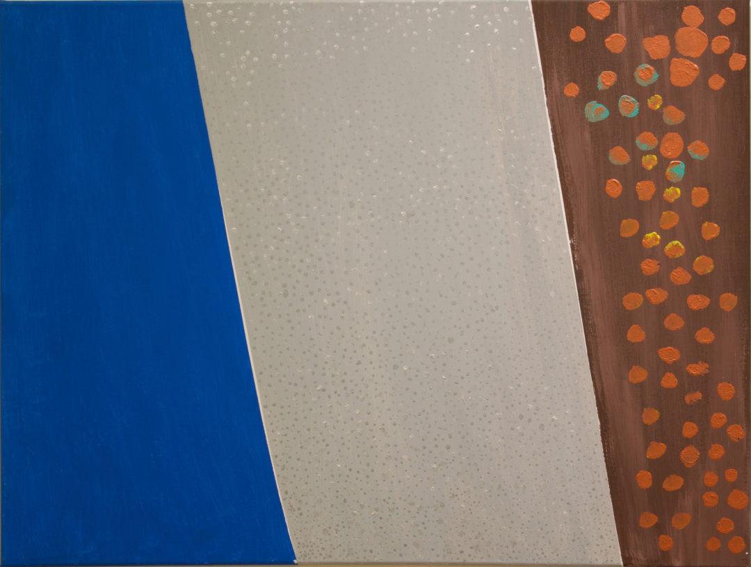 "Joe Kavalesky ""Silver Mist"" (AKA A Brief April Shower"" acrylic on canvas"