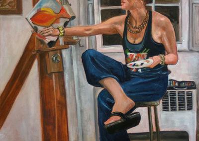 """Michele Guttenberg """"Jill in My Art Class""""   oil on canvas"""