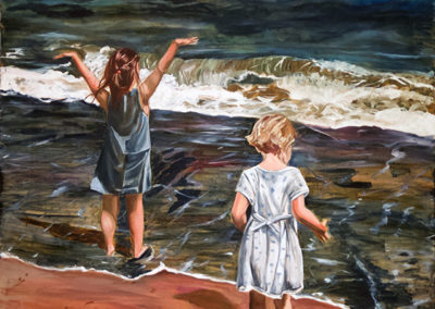 """Michele Guttenberg """"Seeing it for the First Time"""" oil on canvas"""