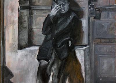 """Michele Guttenberg """"Two Locks""""  oil on canvas"""