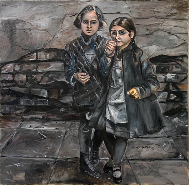 """Michele Guttenberg """"Waifs""""  oil on canvas"""