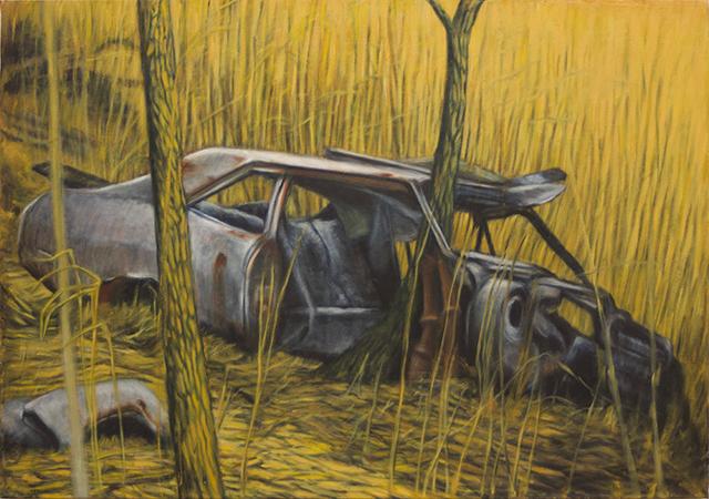 "Neil Besignano ""At the Boat Graveyard, Arthur Kill Road""   oil on canvas"
