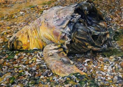 "Neil Besignano ""Tottenville Beach, S.I."" oil on canvas"