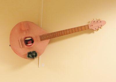 Soul Patch – electric guitar parts, wood, metal, fiberglass, paint brush, paint