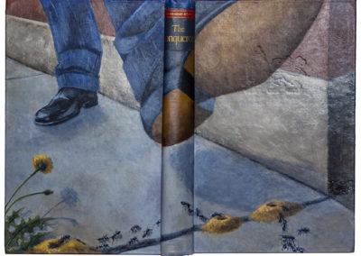 "Mary Jean Canziani ""THE CONQUERORS"", Acrylic on Repurposed Book,9"" x 12"", 2020"