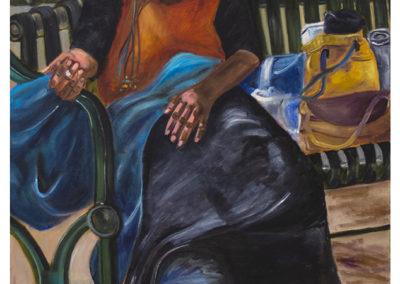 "Michele Guttenberg ""Homeless in San Francisco"" oil on canvas, 27"" W x 39"" H, 2006"