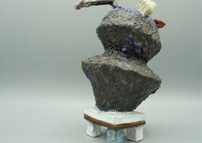 """Jeremy Sims """"What it Contains"""", multi-fired ceramic, 9""""H  x 5.4W  x  6.2D, 2019, $320.00"""