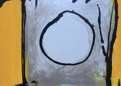 "John Marron  ""Mississippi Soleri Stilt House"", acrylic, 15"" x 15"", 2017, SOLD"