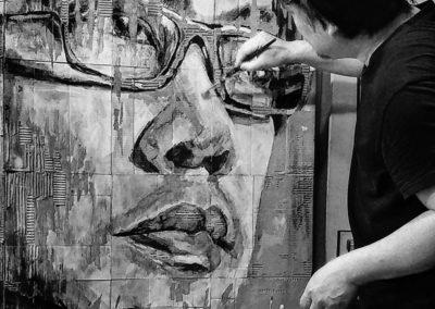"""Self Portrait at My Closet Door"" by Poramit Thantapalit"