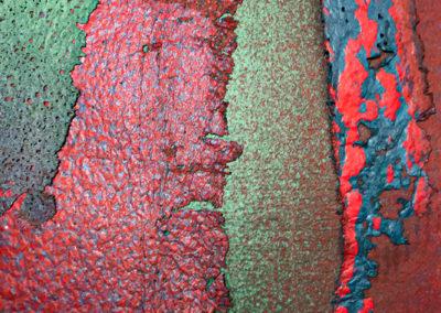 """Paper Play Sanctuary II"". flax handmade paper by PAT FEENEY MURRELL"