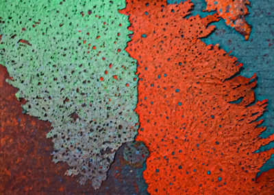 """Paper Play Sanctuary I"", flax handmade paper by PAT FEENEY MURRELL"
