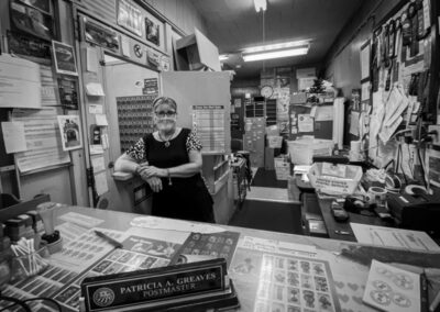 "Parvathi Kumar ""Postmaster Greaves"", photograph, $175.00"