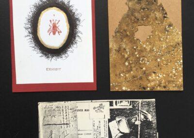 """John Marron """"Envelopener Multi Media"""" art show postcards, $300.00"""