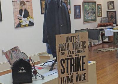 "Christine Anderson ""Vintage Postal Worker Jacket installation"", found objects, NFS"