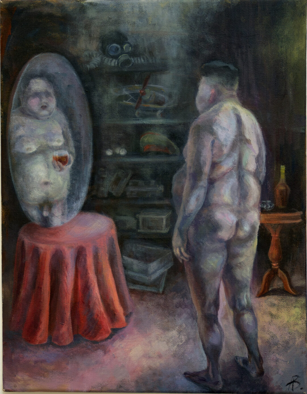 "Anastasiya Baron ""Untitled "" acrylic on canvas, 14: x 18″ – NFS"