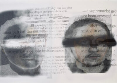 """Aileen Bassis """" Supremacist L"""" transfer and inkjet printing with pencil, 13″ x 20″ – $800.00"""