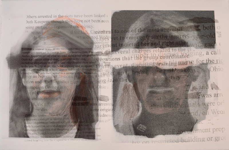 """Aileen Bassis """" Supremacist J"""" transfer and inkjet printing with pencil, 13″ x 20″ – $800.00"""