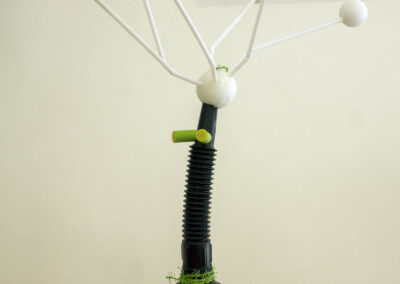 """Bill Bonner """"Night Watchman"""" ready-made construction, funnel, straws and foam, $35.00"""
