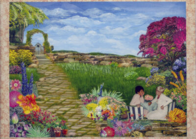 "Renee Simon ""Garden of Distraction"" collage and acrylic, NFS"